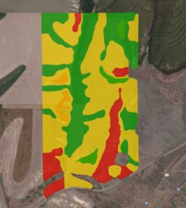 Harvest produced yield map.